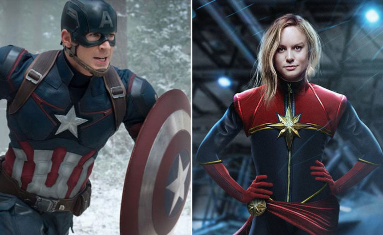 captain marvel captain america