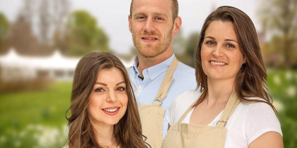 Great British Bake Off finalists, Kate, Steven, Sophie