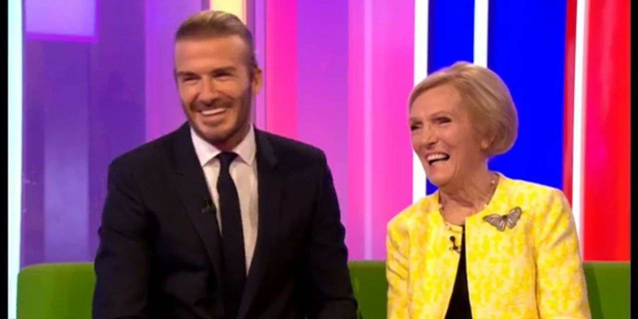 Mary Berry flirted with David Beckham on The One Show