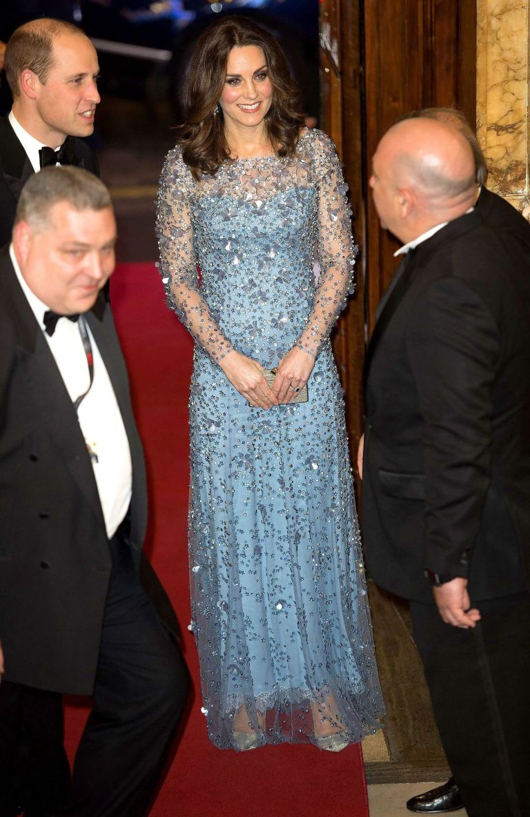 Kate Middleton turns up an hour late to Royal Variety Performance.