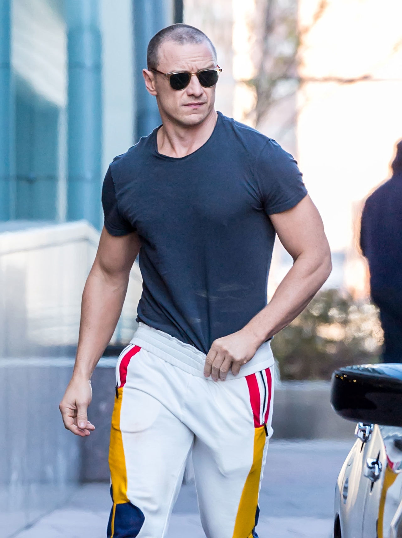James McAvoy is looking totally jacked in M Night ...