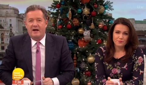 Good Morning Britain's Piers Morgan smashes BBC Breakfast cup with a hammer live on air