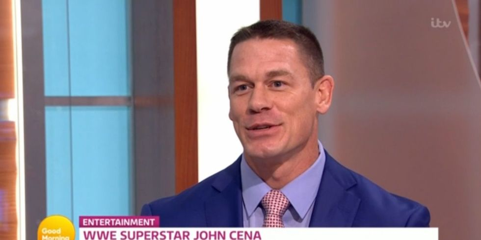 WWE star John Cena surprises Piers Morgan by getting tearful on Good ...