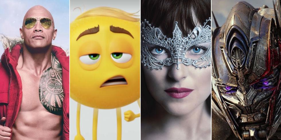 Baywatch, The Emoji Movie, Fifty Shades Darker, Transformers the last knight, Worst Movies 2017
