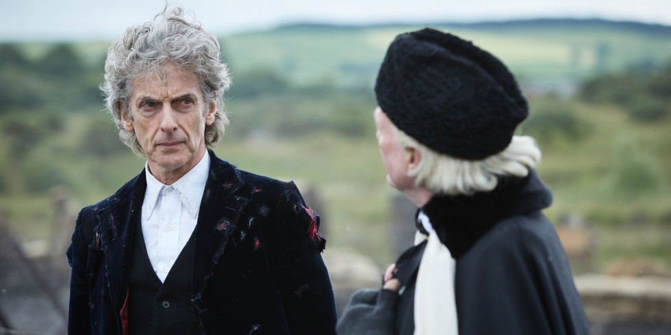 peter capaldi and david bradley in doctor who twice upon a time