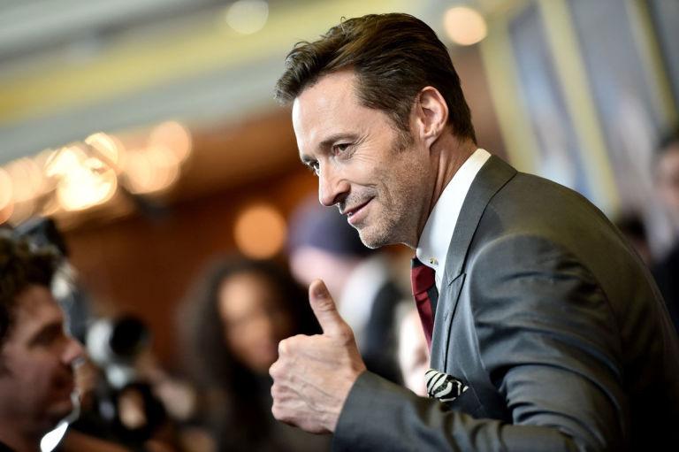 Hugh Jackman thumbs up