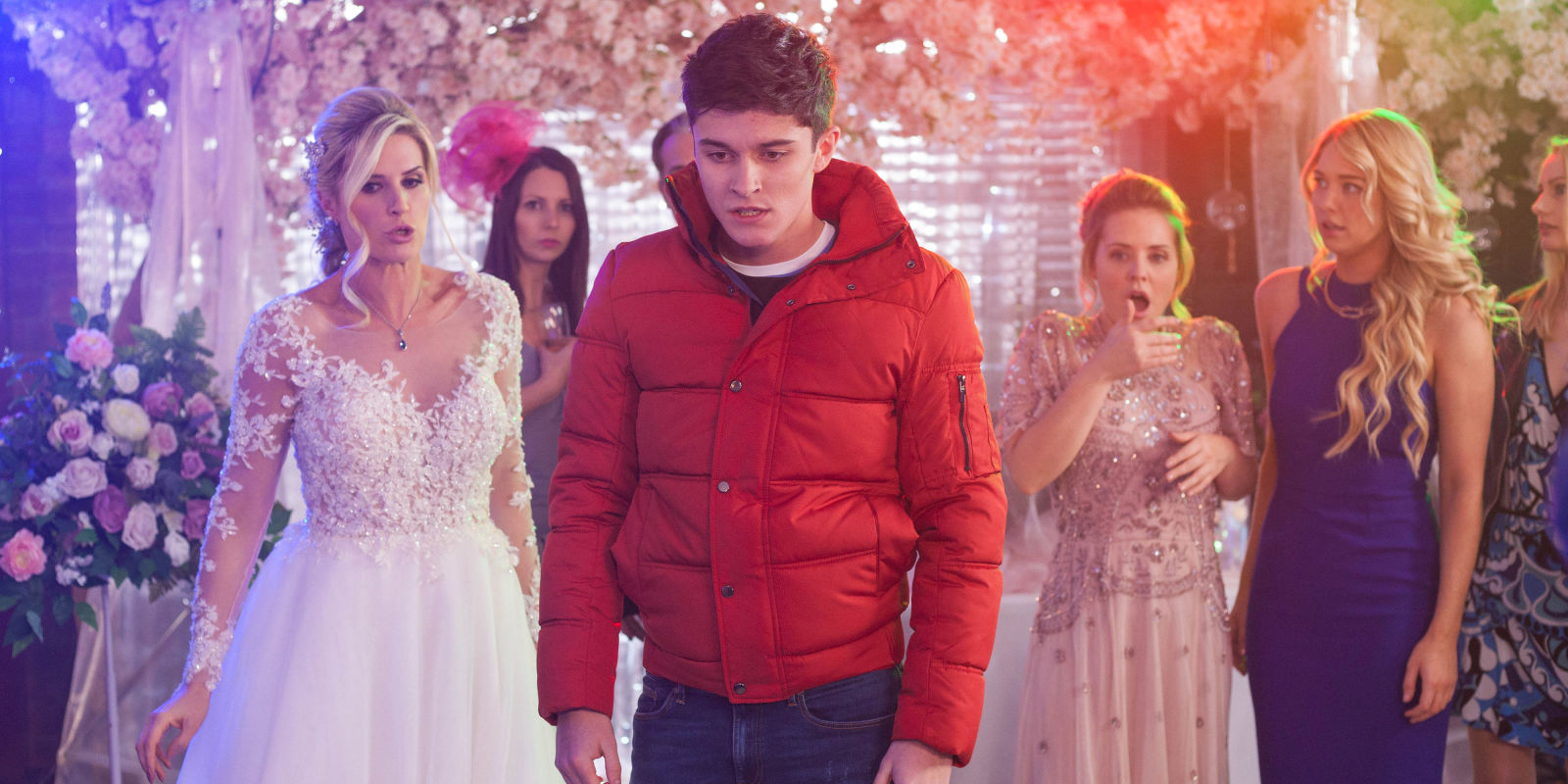 Hollyoaks unveils wedding day disaster for Luke and Mandy