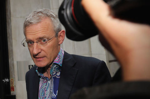 Strictly Come Dancing's Jeremy Vine says he was tricked into naked spray tan by one of the professionals.