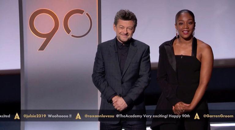 Andy Serkis Tiffany Haddish Present The Oscars Nominations 2018