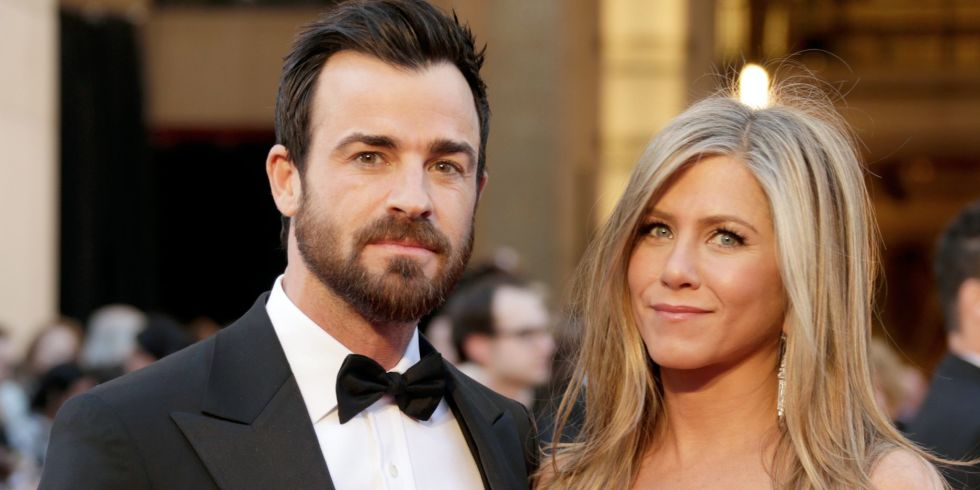 Jennifer Aniston R And Actor Justin Theroux Arrive At The Oscars Hollywood