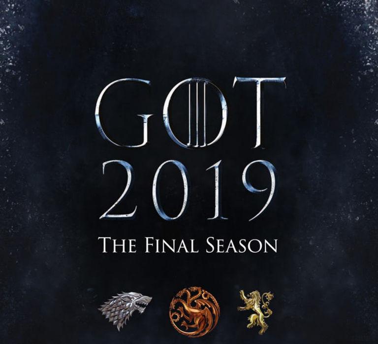 Juego de tronos, cartel final de la temporada 2019.