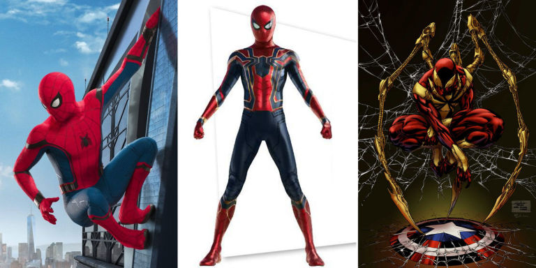 Spider-Man costume in Infinity War & Avengers: Infinity War new costumes