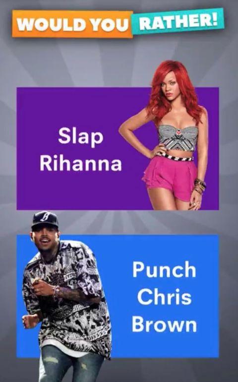 Rihanna, Chris Brown, Snapchat ad