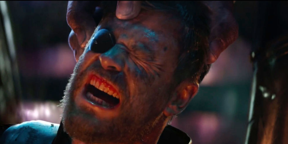 Image result for avengers infinity war thanos thor