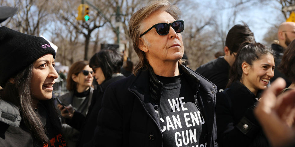 Paul McCartney On The March For Our Lives In Manhattan
