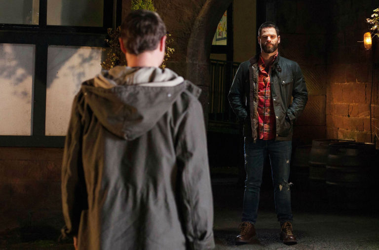 Milo Entwistle meets with newcomer Theo in Hollyoaks