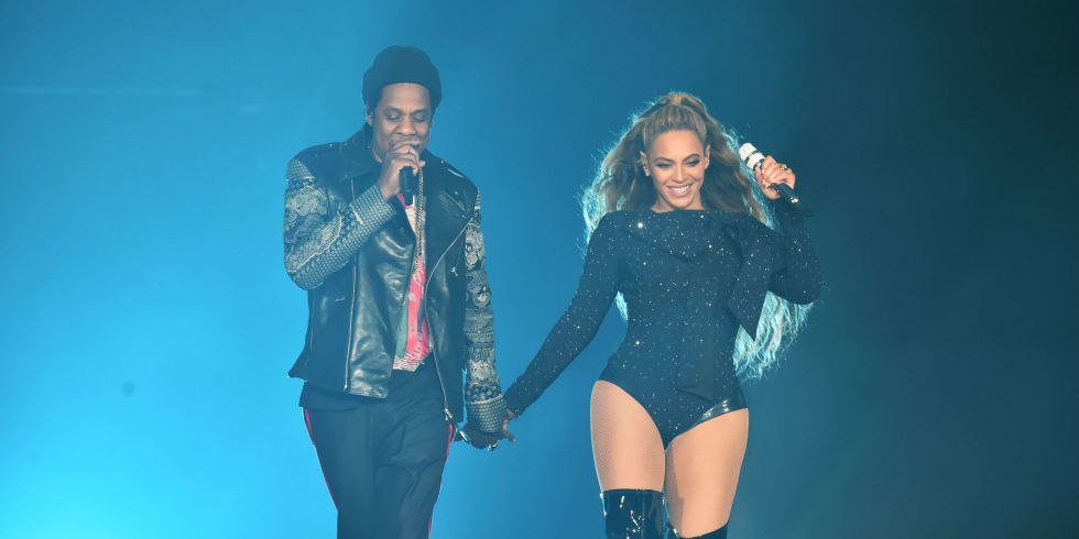 Beyonc and jay z release new joint album everything is love beyonce and jay z perform together holding hands on stage during the on the malvernweather Choice Image