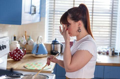 Nancy Osborne feels unwell and collapses in Hollyoaks