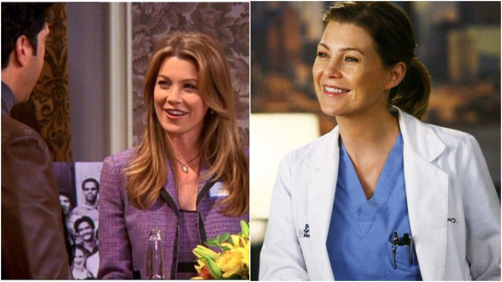 "Before Grey's Anatomy, Pompeo played Missy Goldberg, a college crush of Ross and Chandler who Mr Bing scored with, despite the boys having a ""pact"" not to hit on her."