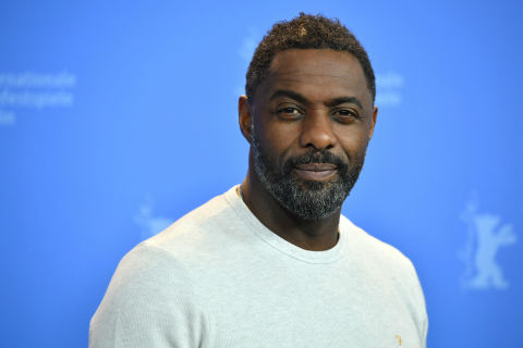 Idris Elba poses at the 68th Berlinale International Film Festival Berlin in February 2018