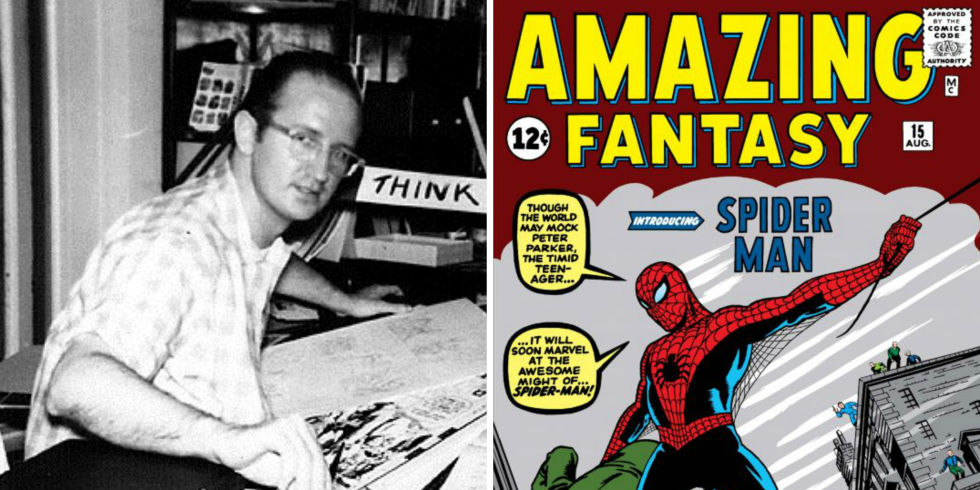 Steve Ditko In The S And The Front Cover Of Amazing Fantasy No  The