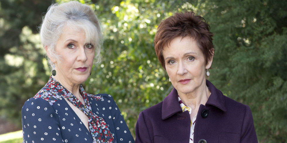 debra lawrance and jackie woodburne as liz conway and susan kennedy in neighbours - Christmas In Conway Cast