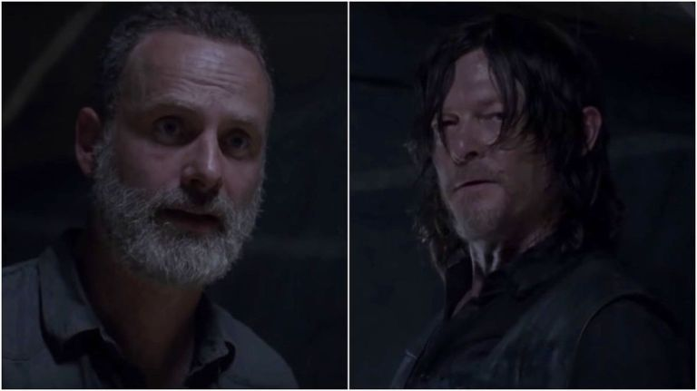 Rick and Daryl in The Walking Dead season 9