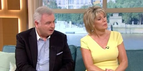 Eamonn Holmes and Ruth Langsford presenting This Morning