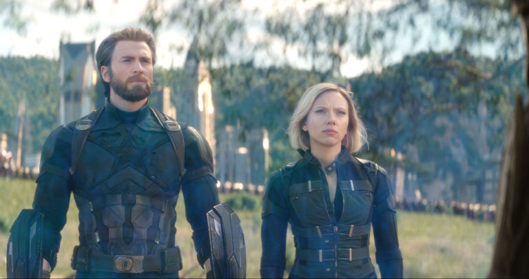 Avengers Infinity War, Captain America, Chris Evans, Black Widow, Scarlett Johansson