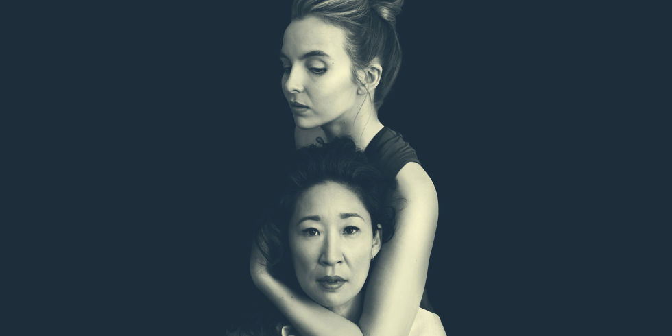 killing eve season one promotional picture with sandra oh and jodie comer - All About Christmas Eve Cast
