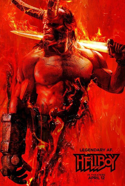 Hellboy 2019 poster - Hellboy reboot reveals first look at Milla Jovovich's villainous Blood Queen