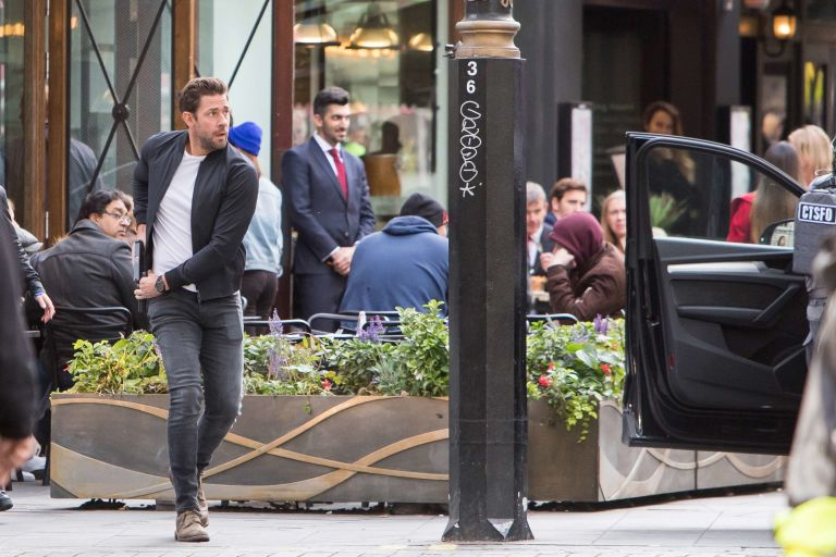NO REUSE, John Krasinski, Jack Ryan, Filming, Amazon TV Series
