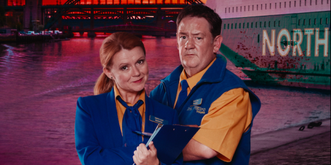 Sian Gibson and Johnny Vegas are back in first look at Murder on the Blackpool Express sequel
