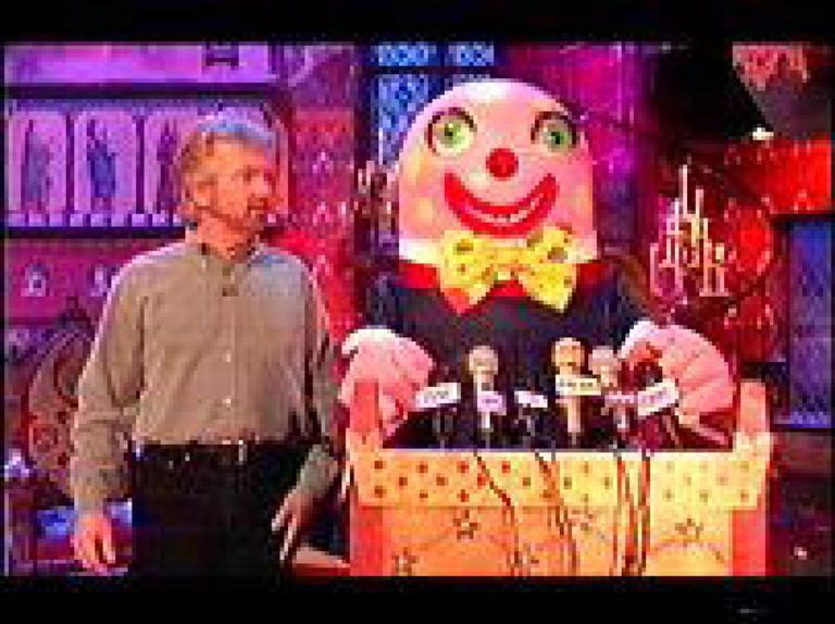 Noel Edmonds and Mr Blobby on Noel's House Party (1991)