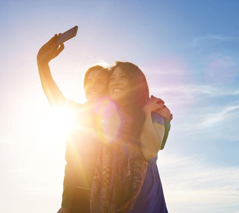 Selfie at sunset