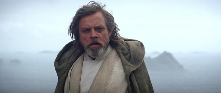 Luke Skywalker at end of The Force Awakens