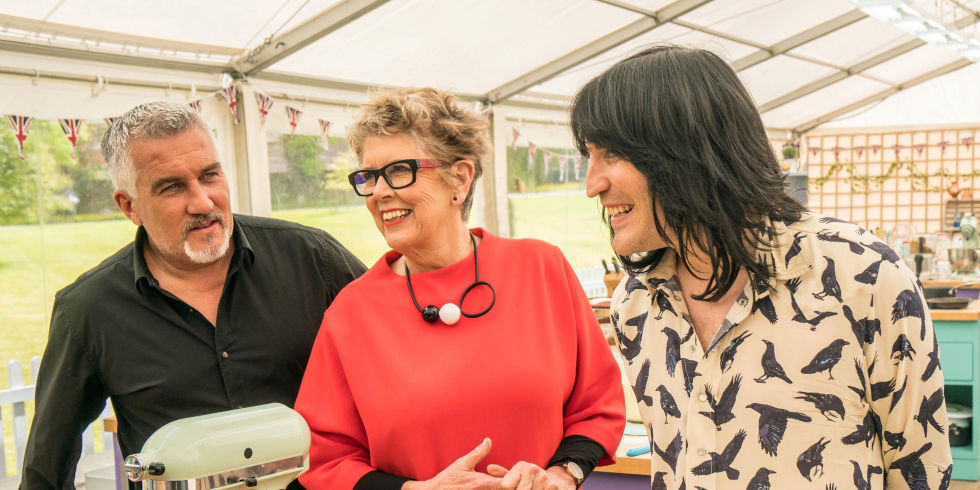 Paul Hollywood Prue Leith Noel Fielding Gbbo Great British Bake Off