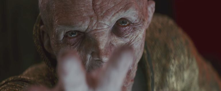 Supreme Leader Snoke in Star Wars: The Last Jedi
