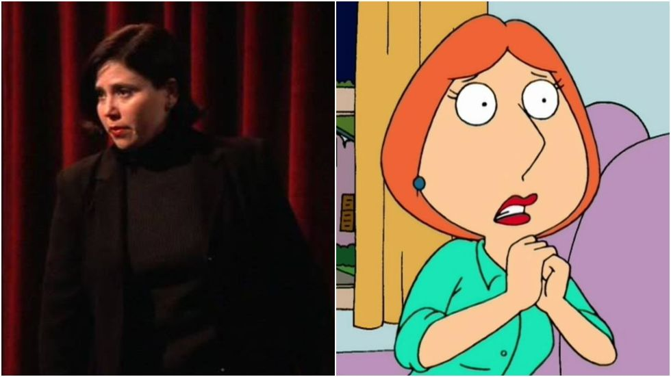 "The voice of Family Guy's Lois appeared in the flesh as a feminist theatre performer who terrified Chandler with her opening outburst: ""Why don't you like me?!"""